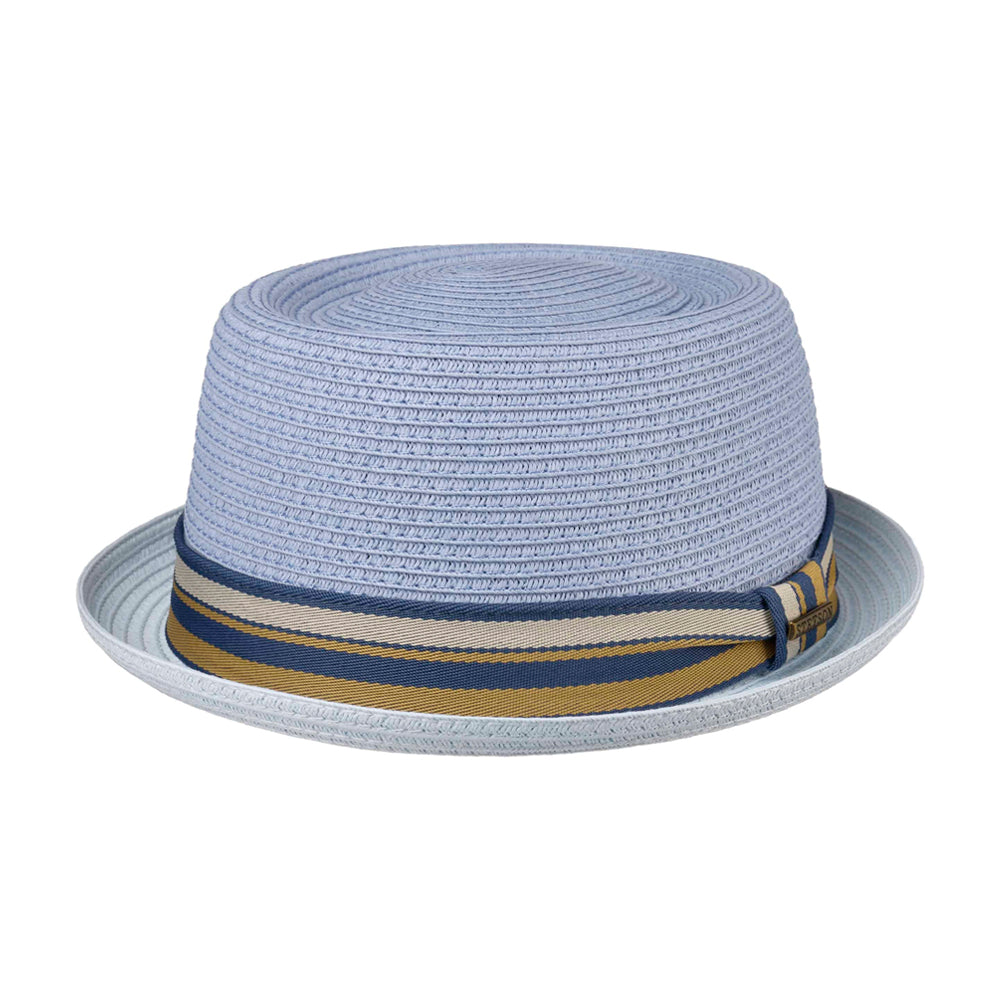 Stetson Licano Toyo Pork Pie Straw Hat Strå Hat Light Blue Blå 1698509-22