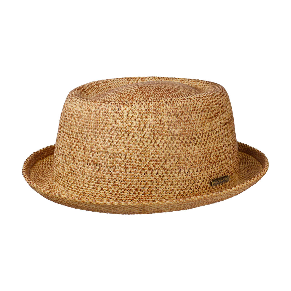 Stetson Liverton Toyo Pork Pie Straw Hat Nature Beige 1698511-86