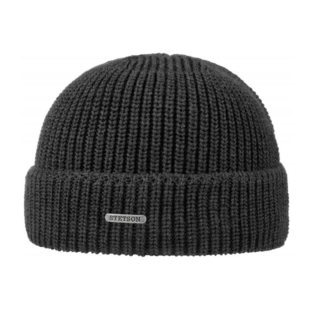 Stetson Max Cotton Beanie Dark Grey Mørkegrå 8599402-33