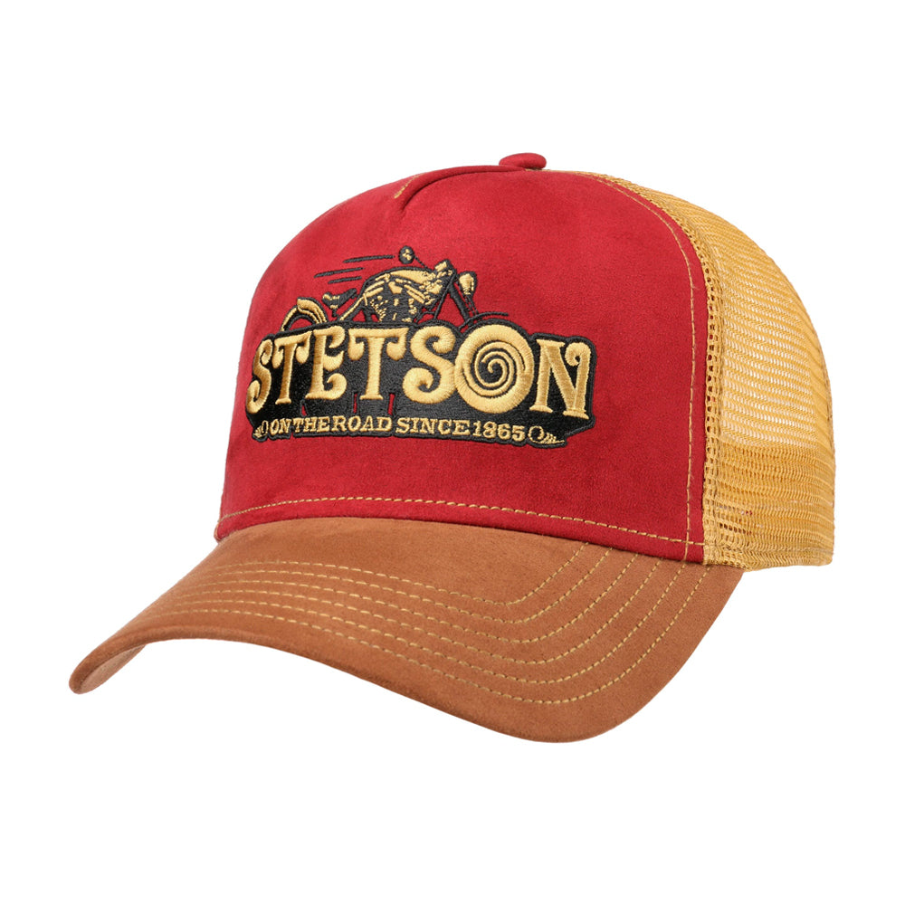 Stetson Dirt Track Racing Trucker Snapback Brown Red Gold Brun Rød Guld 7756105-68