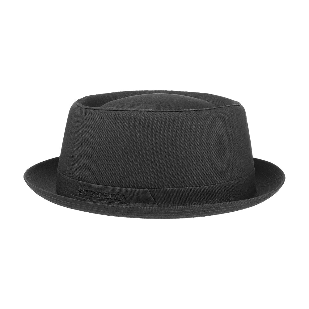 Stetson Pork Pie Fedora Hat Black Sort