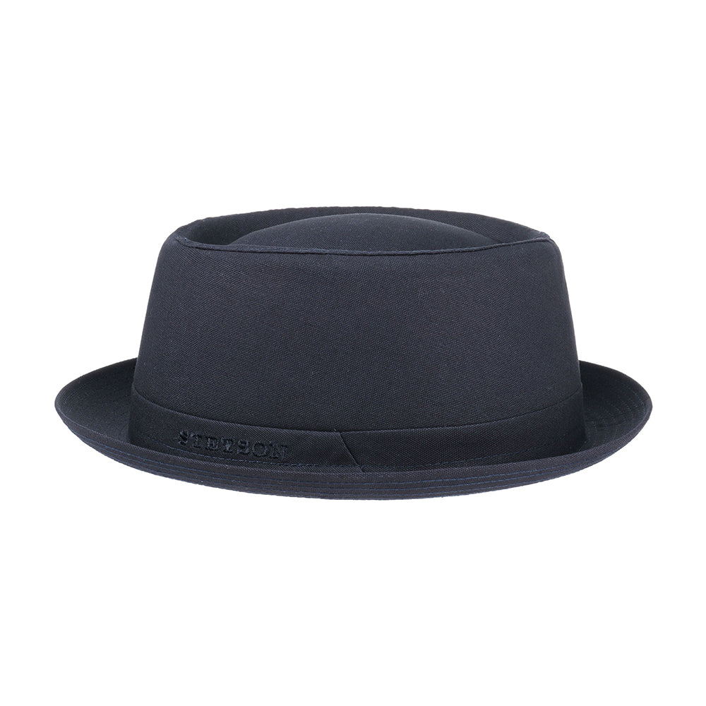Stetson Pork Pie Fedora Hat Navy Blå