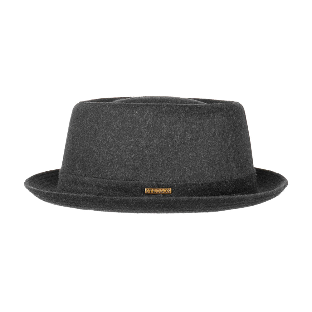 Stetson Pork Pie Wool Fedora Anthracite Grey Grå 1690102-3
