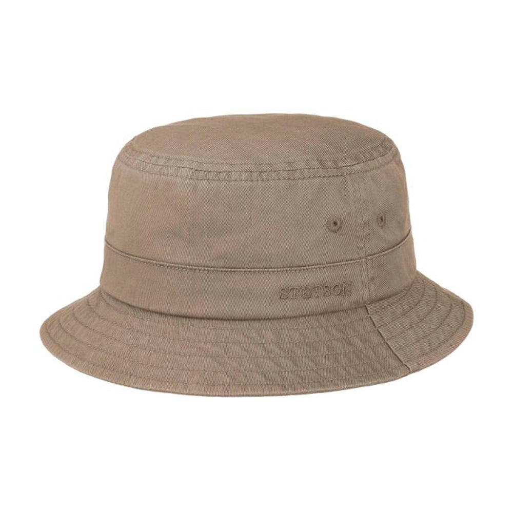 Stetson Protection Cotton Twill Bucket Hat Dark Grey Mørkegrå