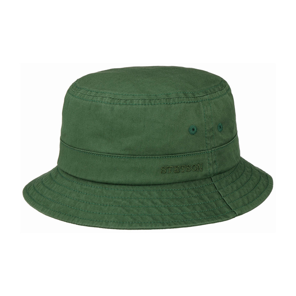 Stetson Protection Cotton Twill Bucket Hat Green Grøn