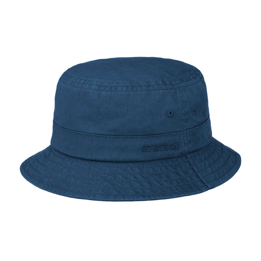 Stetson Protection Cotton Twill Bucket Hat Navy Blå