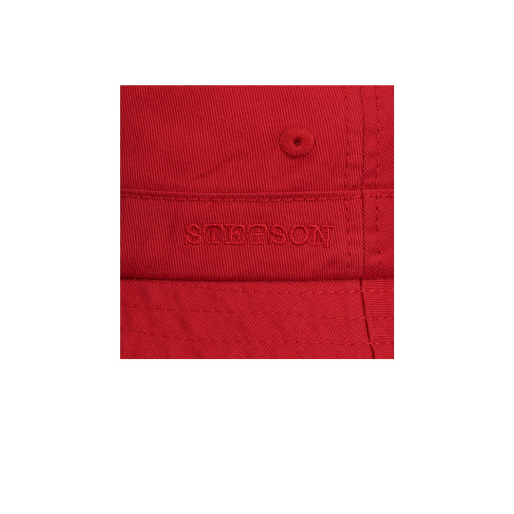 Stetson Protection Cotton Twill Bucket Hat Red Rød
