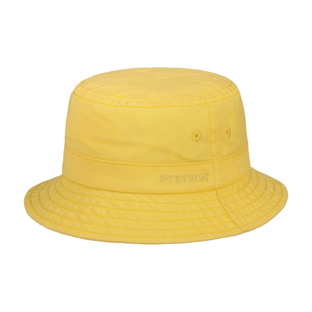 Stetson Protection Cotton Twill Bucket Hat Yellow Gul