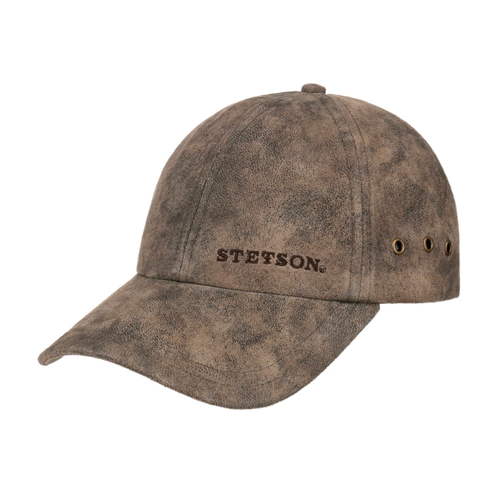 Stetson Rawlins Pigskin Baseball Cap Adjustable Dark Brown Brun 7717105-62
