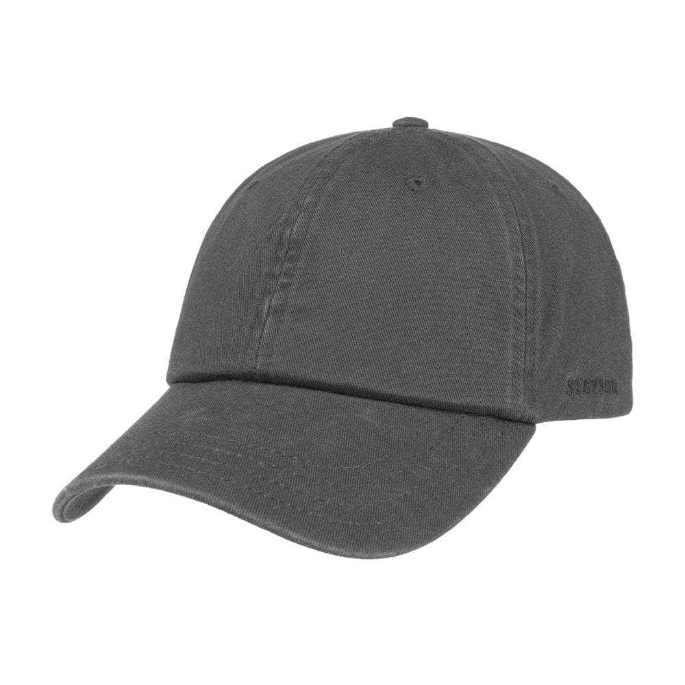 Stetson Rector Baseball Cap Adjustable Anthracite Grey Grå Mørkegrå 7711101-32