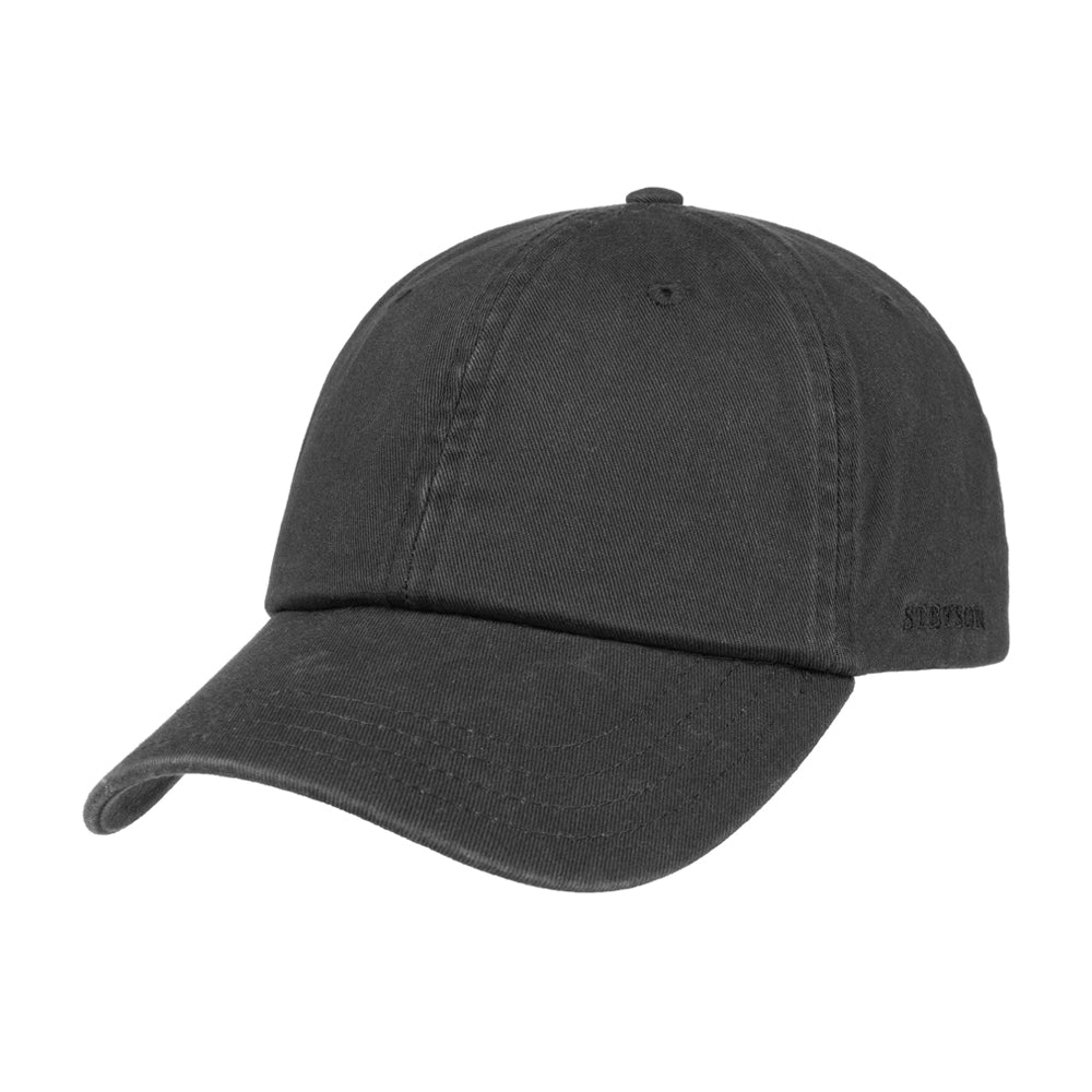 Stetson Rector Baseball Cap Adjustable Black Sort