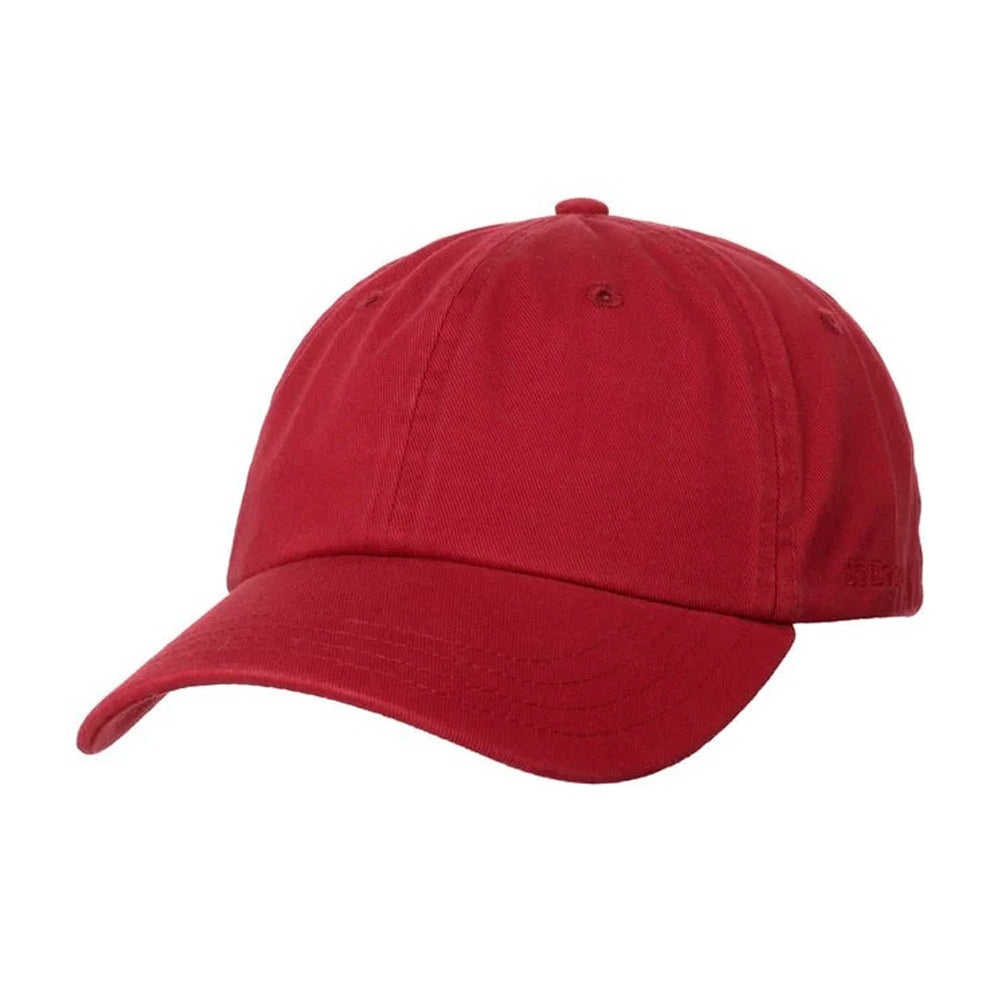Stetson Rector Baseball Cap Adjustable Bordeaux Maroon Rød