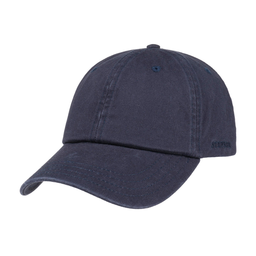Stetson Rector Baseball Cap Adjustable Navy Blå