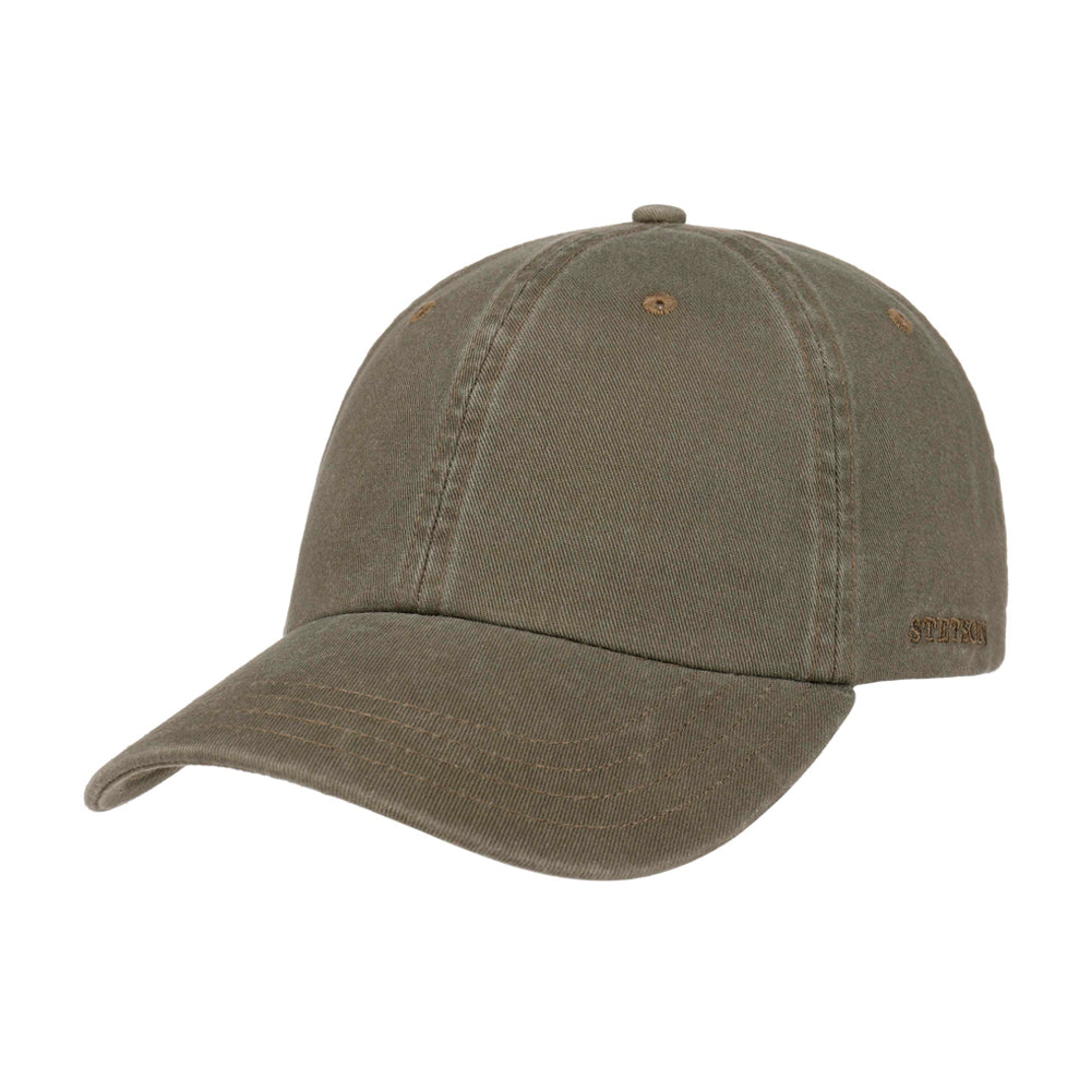 Stetson Rector Baseball Cap Adjustable Olive Brun