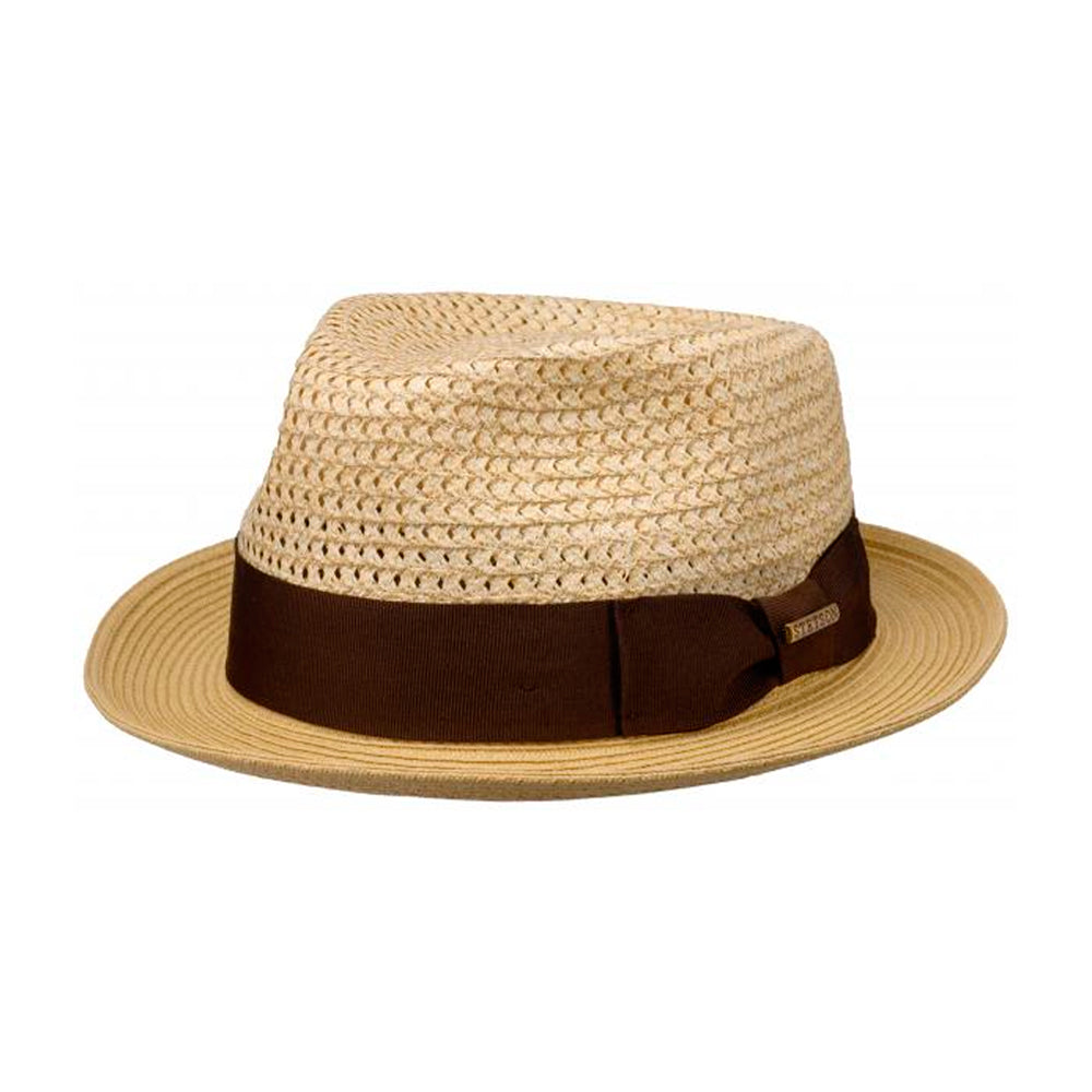 Stetson Ribbon Toyo Player Straw Hat Strå Hat Nature Beige Brown Brun 1398508-7