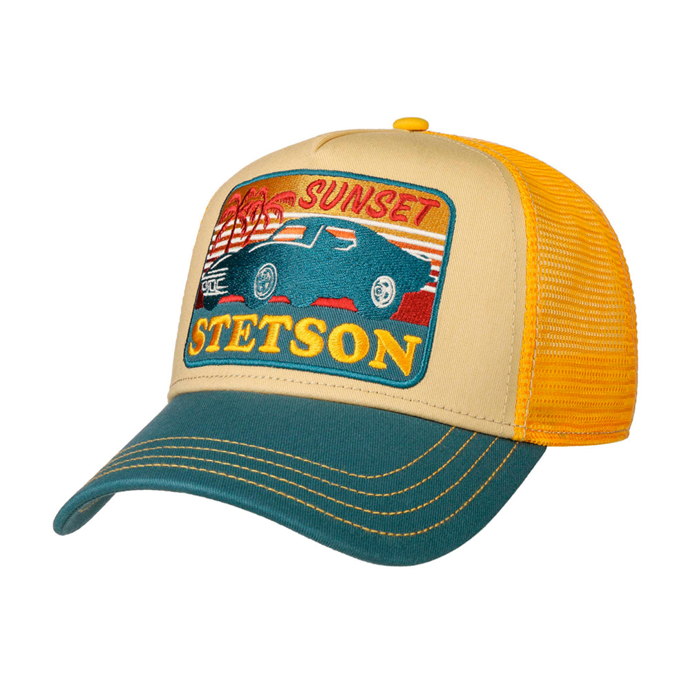 Stetson Sunset Trucker Snapback Yellow White Blue Gul Hvid Blå