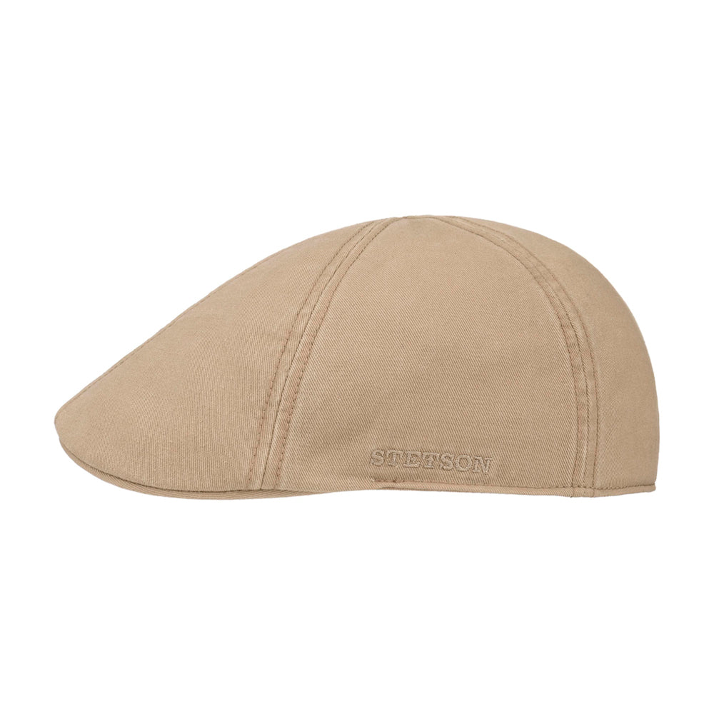 Stetson Texas Sun Protection Sixpence Flat Cap Beige