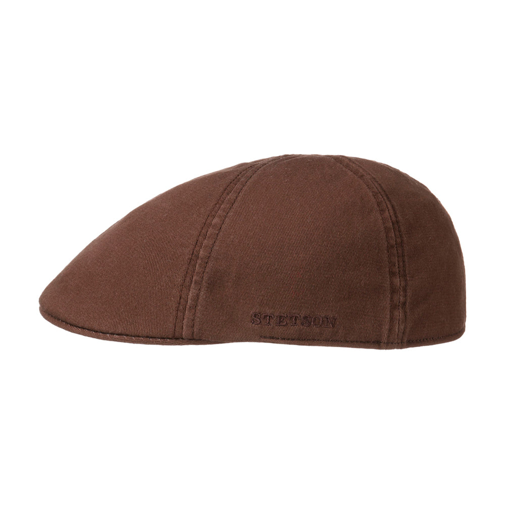 Stetson Texas Sun Protection Sixpence Flat Cap Brown Brun