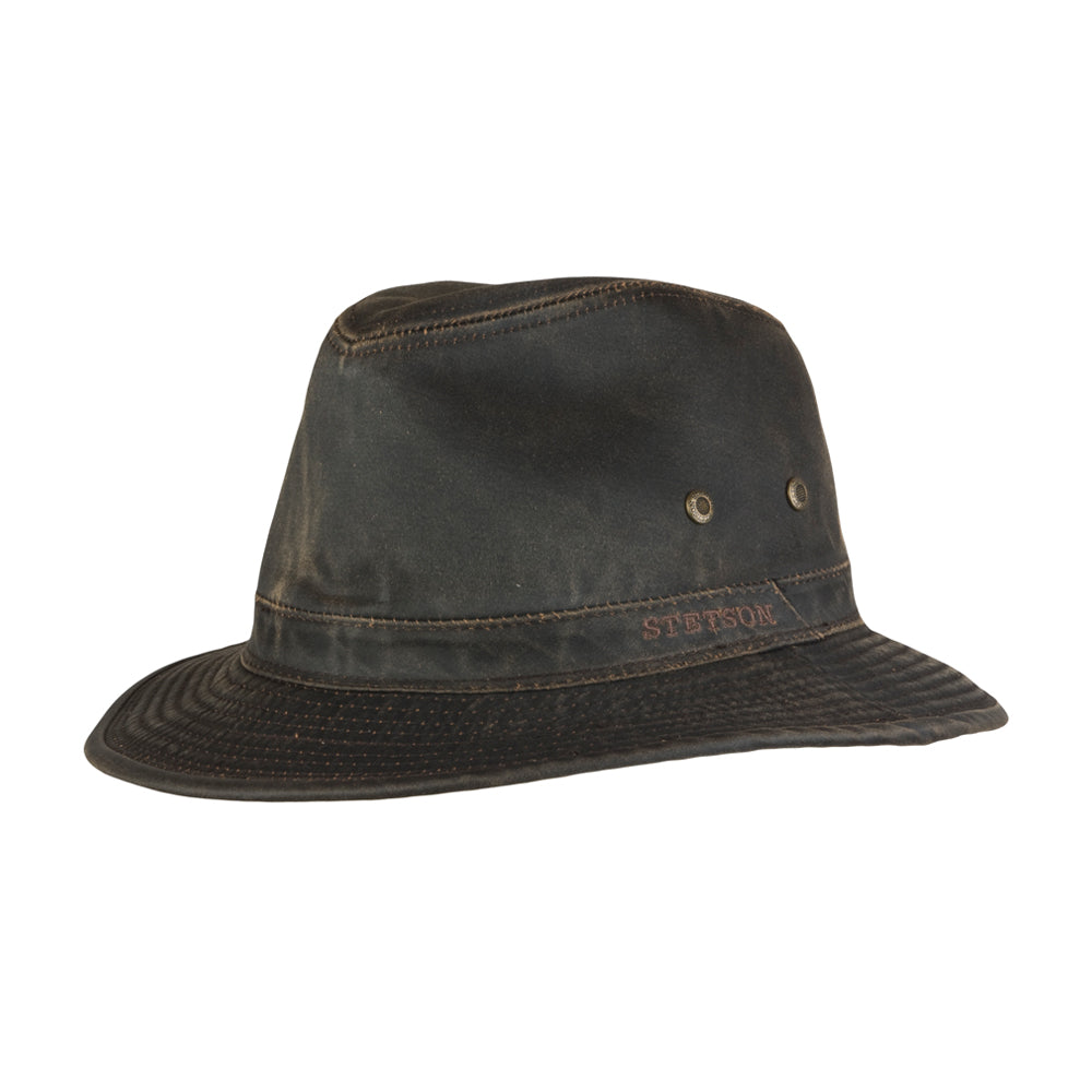 Stetson Traveller CO/PE Fedora Brown Brun 2541102-6