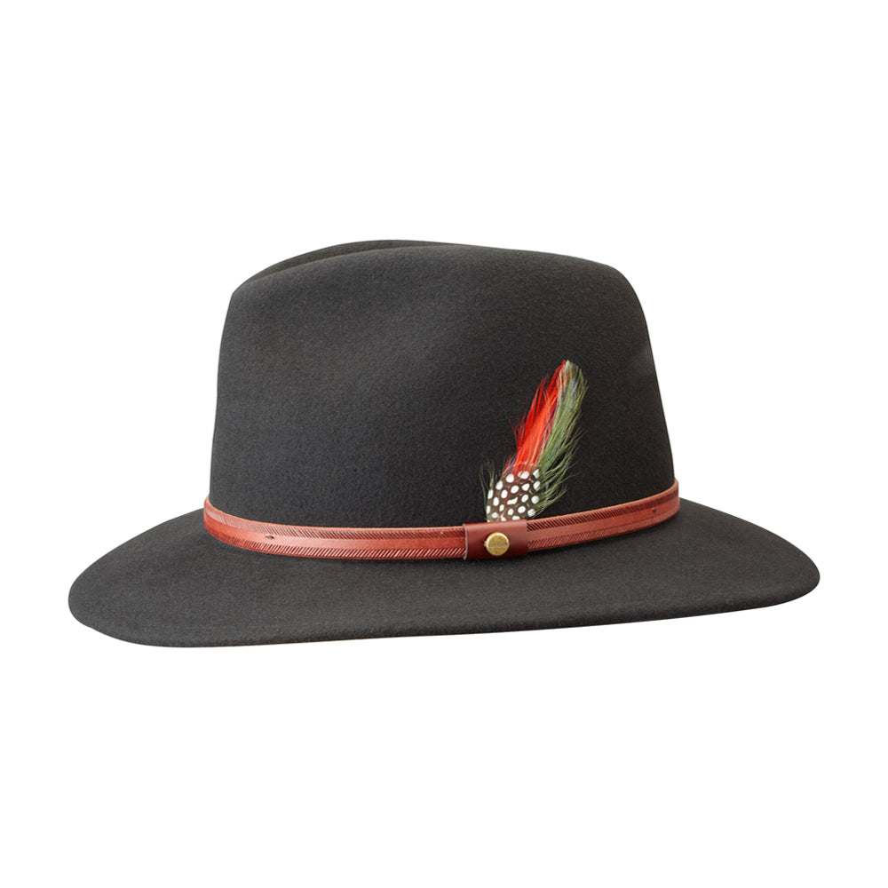 Stetson Traveller Felt Hat Black Sort