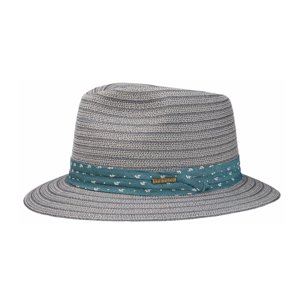 Stetson Traveller Toyo Straw Hat Grey Grå