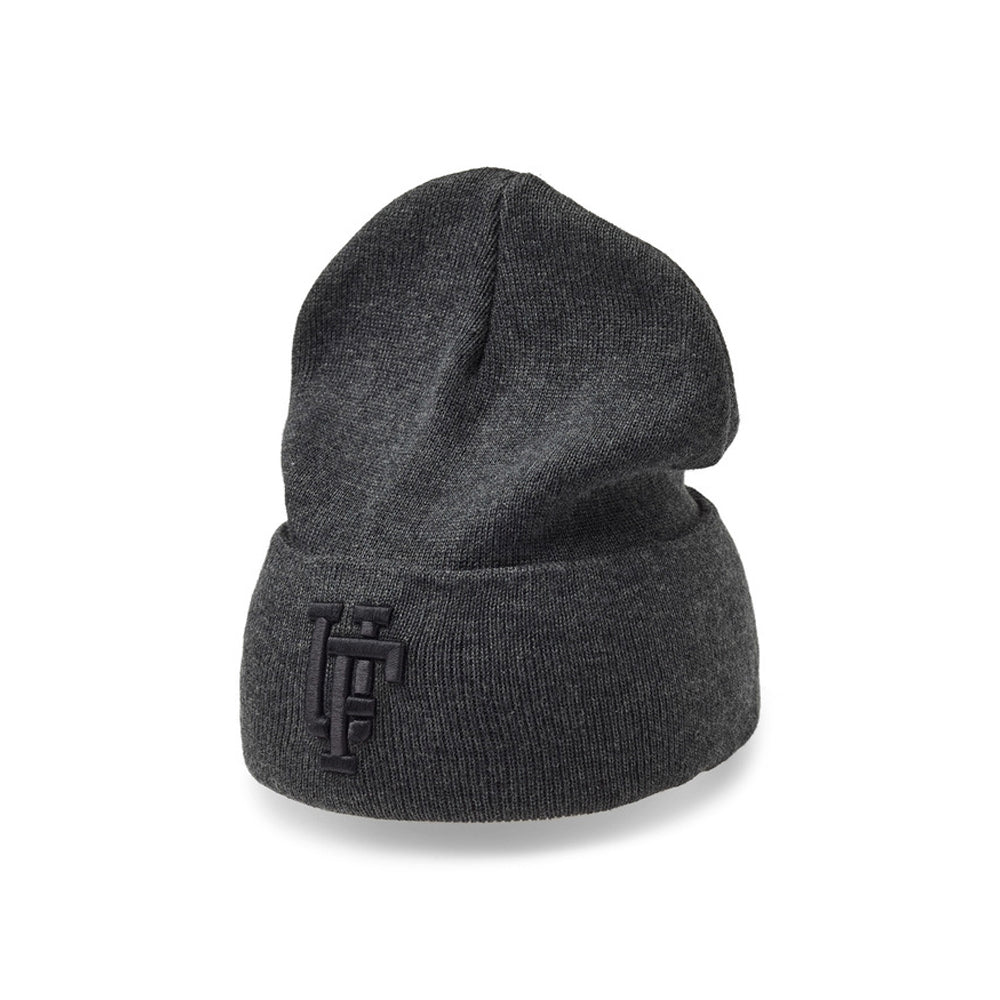 Upfront Spinback 2 Fold Up Beanie Fold Huer Dark Grey Melange Black Mørkegrå Sort