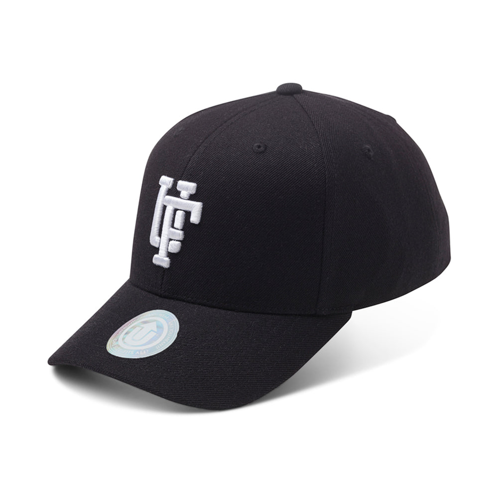Upfront Spinback Baseball Cap Snapback Black Sort