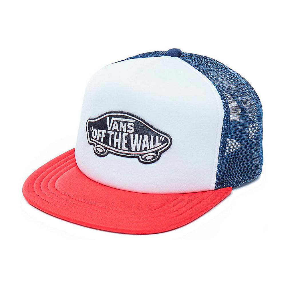 Vans MN Classic Patch Tru Trucker Snapback White Red Hvid Rød