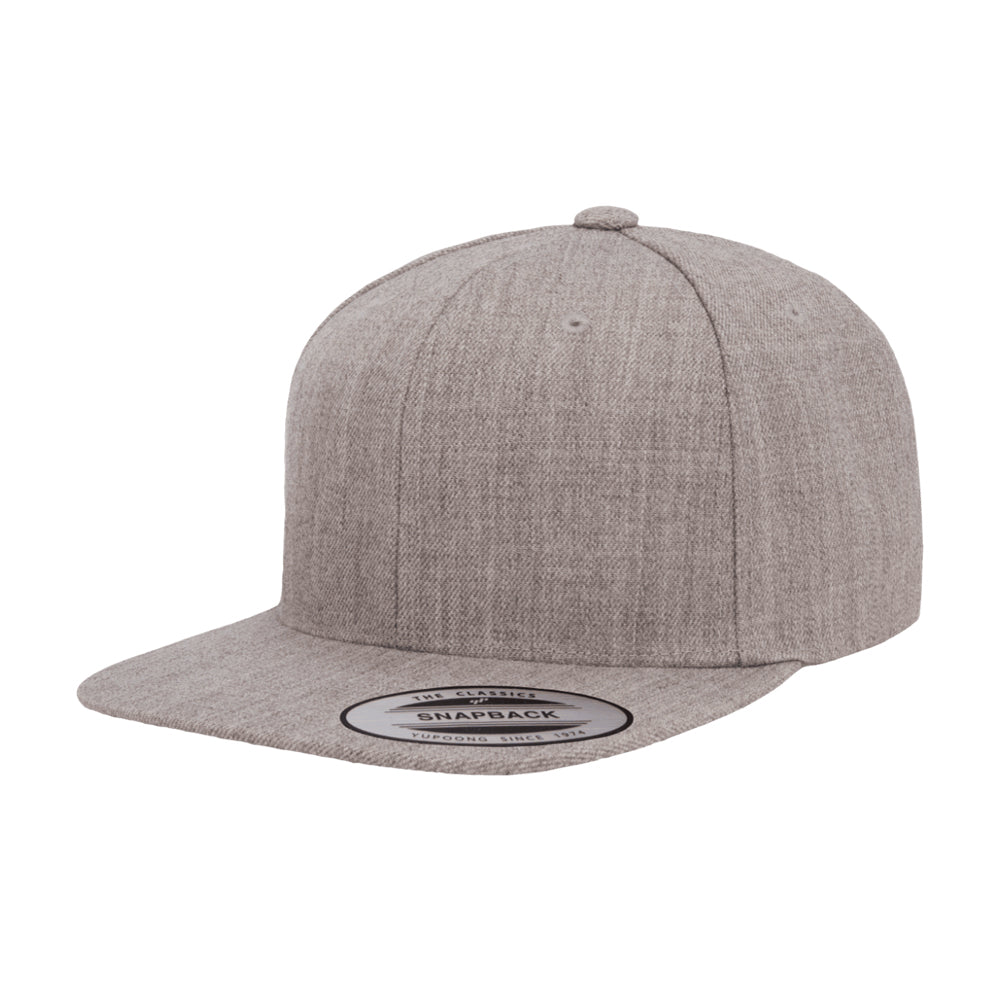 Yupoong Flexfit Classic Snapback Heather Grey Grå 6089M