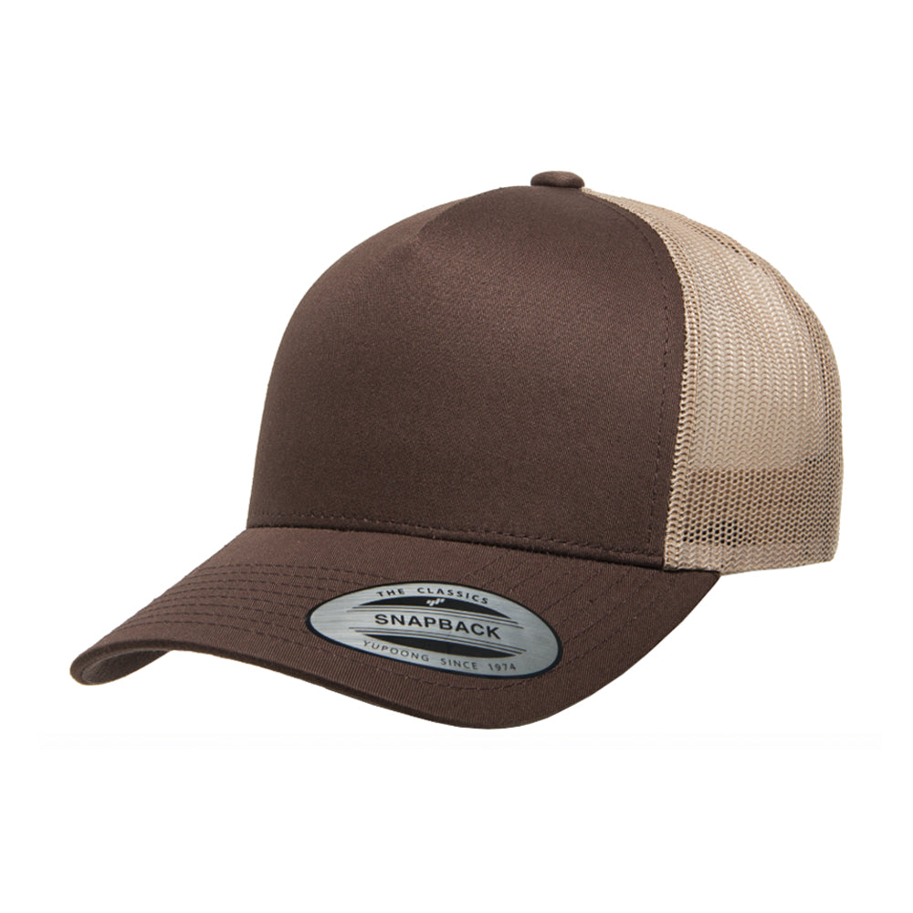 Flexfit/Yupoong Trucker 5 Panel Snapback 6506 Brown Khaki Brun Beige