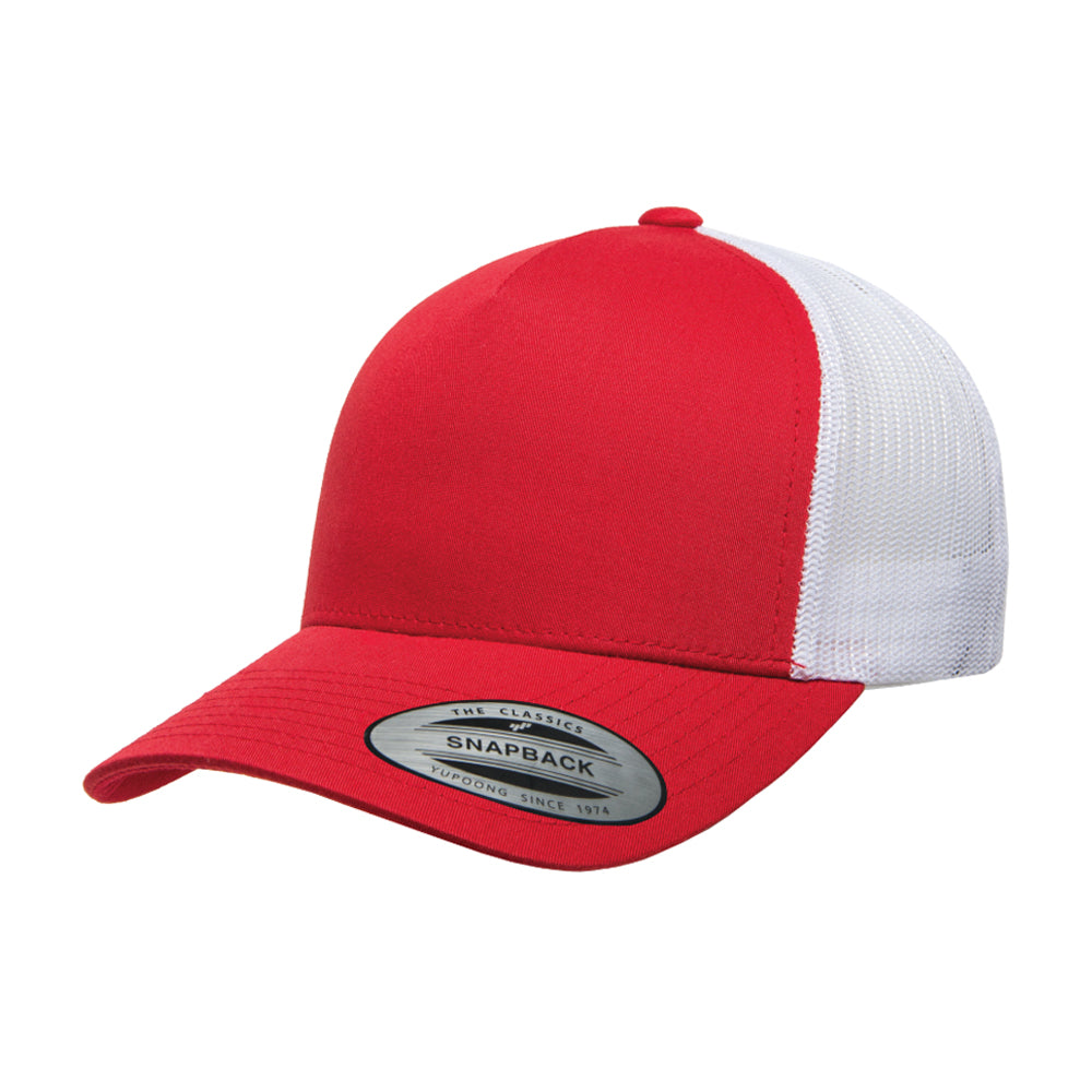 Flexfit/Yupoong Trucker 5 Panel Snapback 6506 Red White Rød Hvid