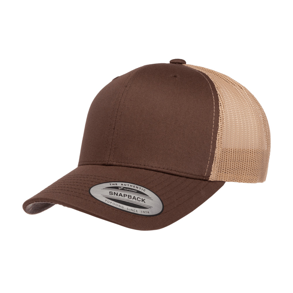 Yupoong Trucker 6 Panel Snapback 6606 Brown Khaki Brun Beige