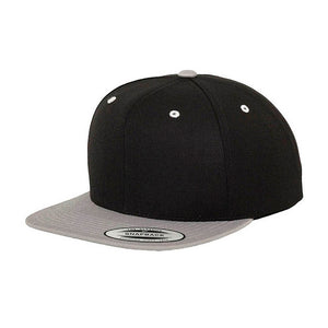 Flexfit Yupoong Youth Snapback 6089YOUTH Black Grey Silver Sort Grå Sølv