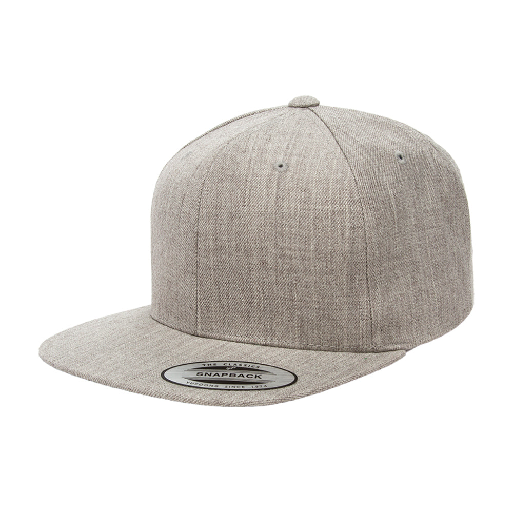 Yupoong Youth Snapback 6089YOUTH Heather Grey Grå