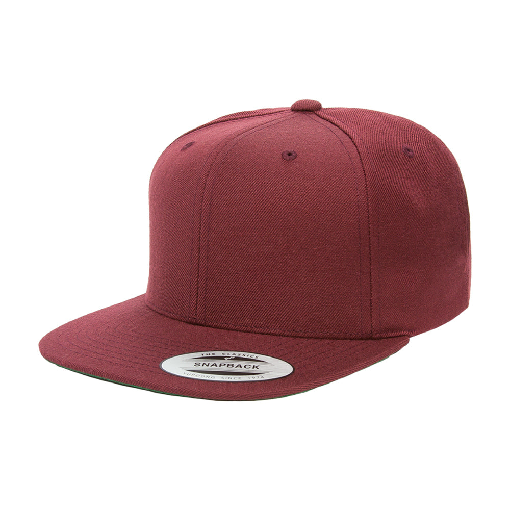 Yupoong Youth Snapback 6089YOUTH Maroon Rød