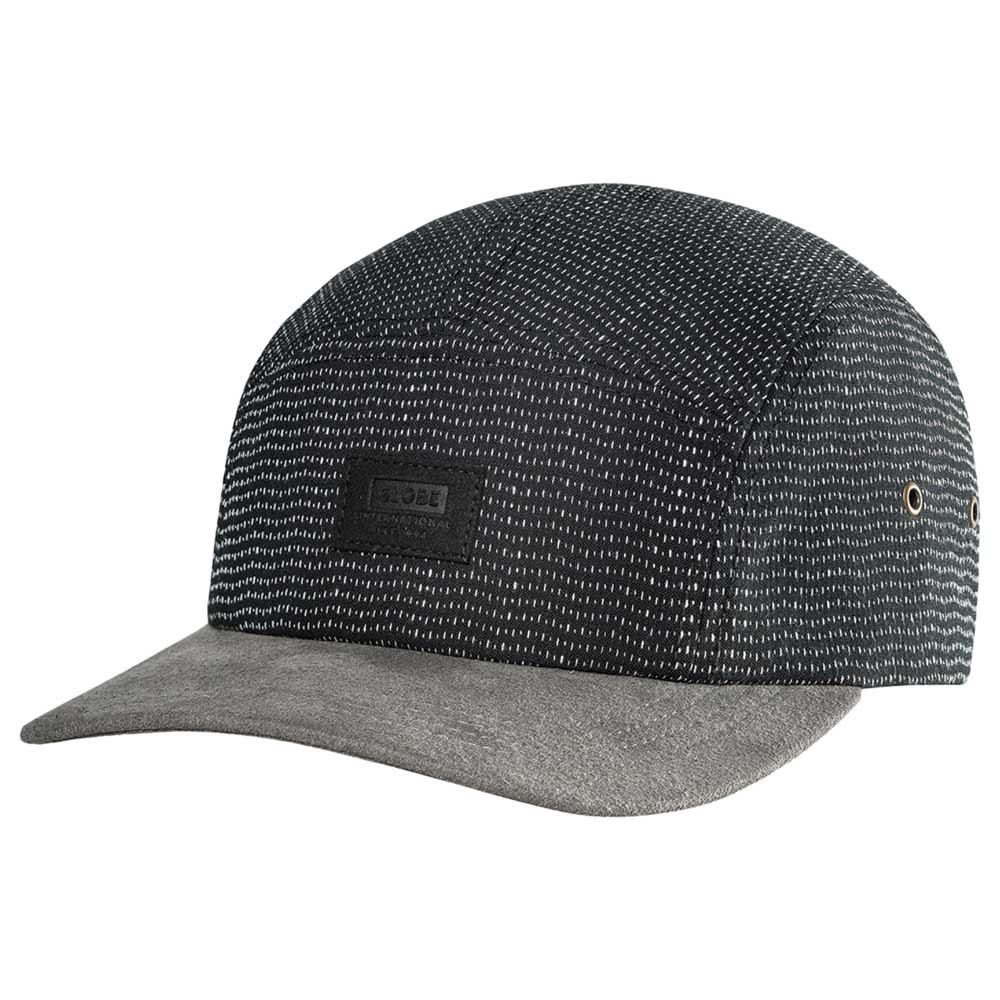 Globe Dunes 5 Panel Cap Black Grey Justerbar