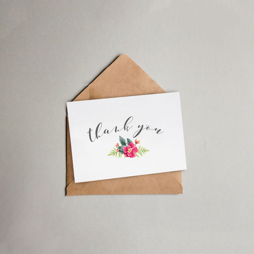 Floral Detail Thank-You-Card