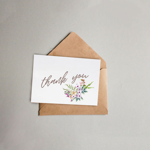 Floral Bouquet Thank-You-Card