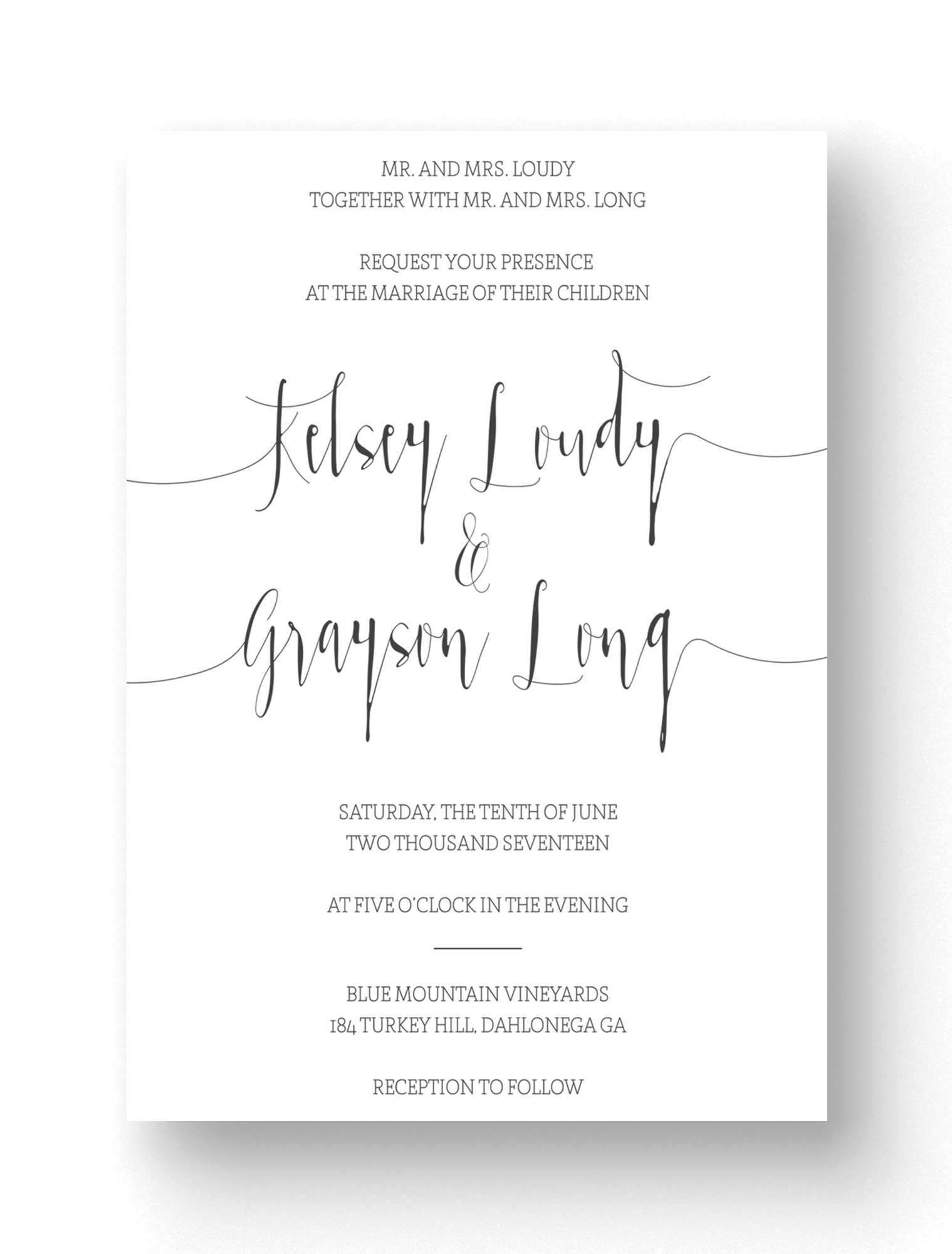 Elegant Modern Calligraphy Invitations The Stationery Barn