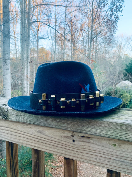 UNISEX BRASS AMMO HAT BAND