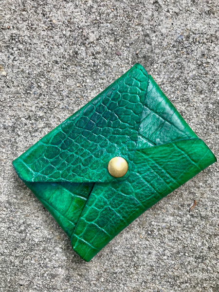 CROC PAYTON LEATHER CARD HOLDER