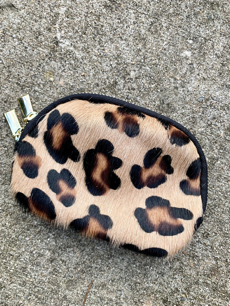 LEOPARD COWHIDE MAKE-UP BAG