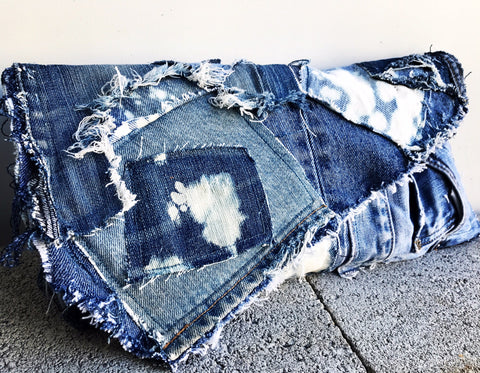 DENIM RAGBAG CLUTCH