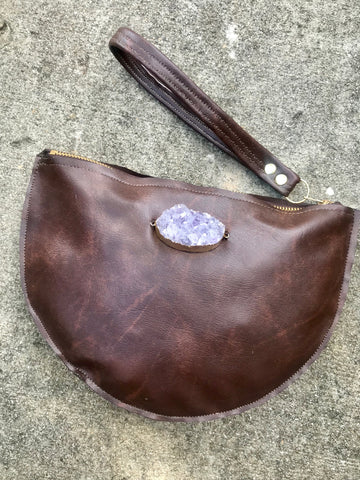 VEGAN CRYSTAL CLUTCH