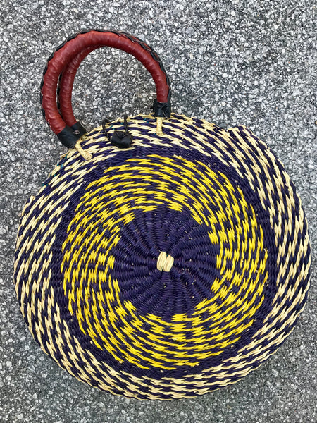 YENA ROUND STRAW BAG