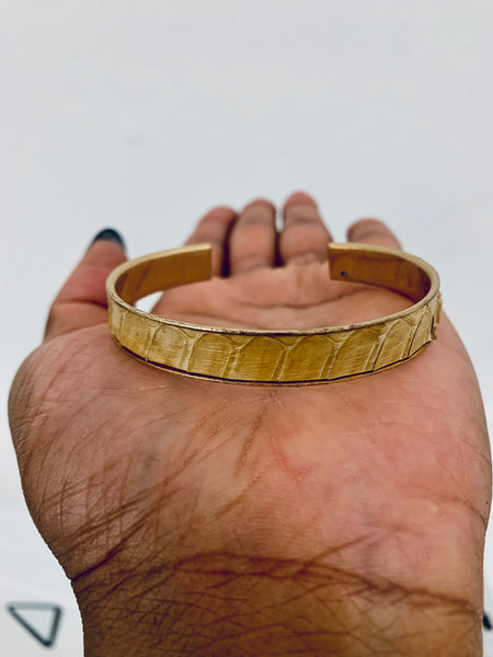 SNAKESKIN LEATHER BANGLES