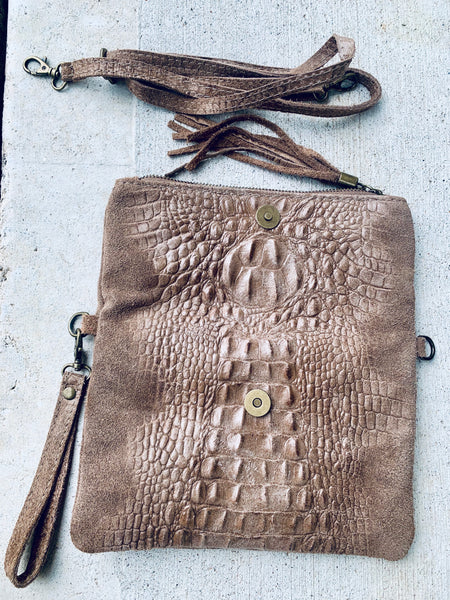 ELM CONVERTIBLE CROC BAG