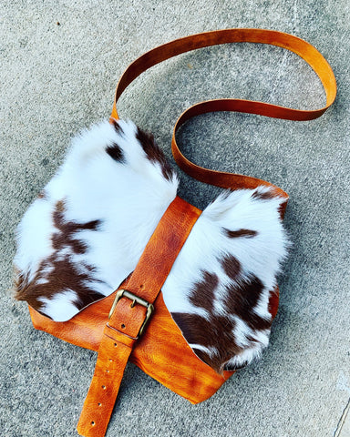 OVERSIZED COWHIDE CROSSBODY