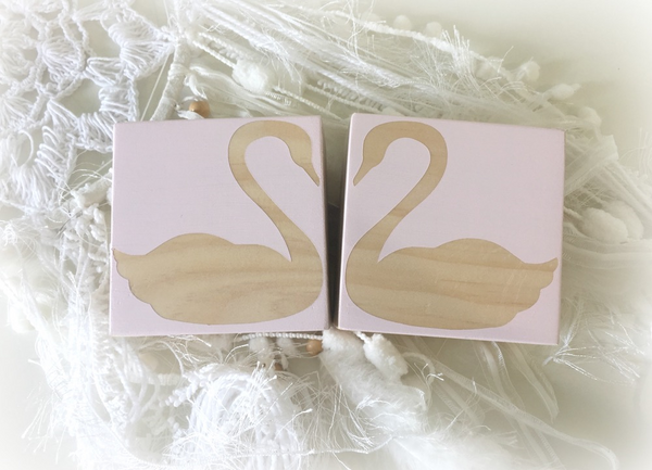 Love Heart Swan Blocks