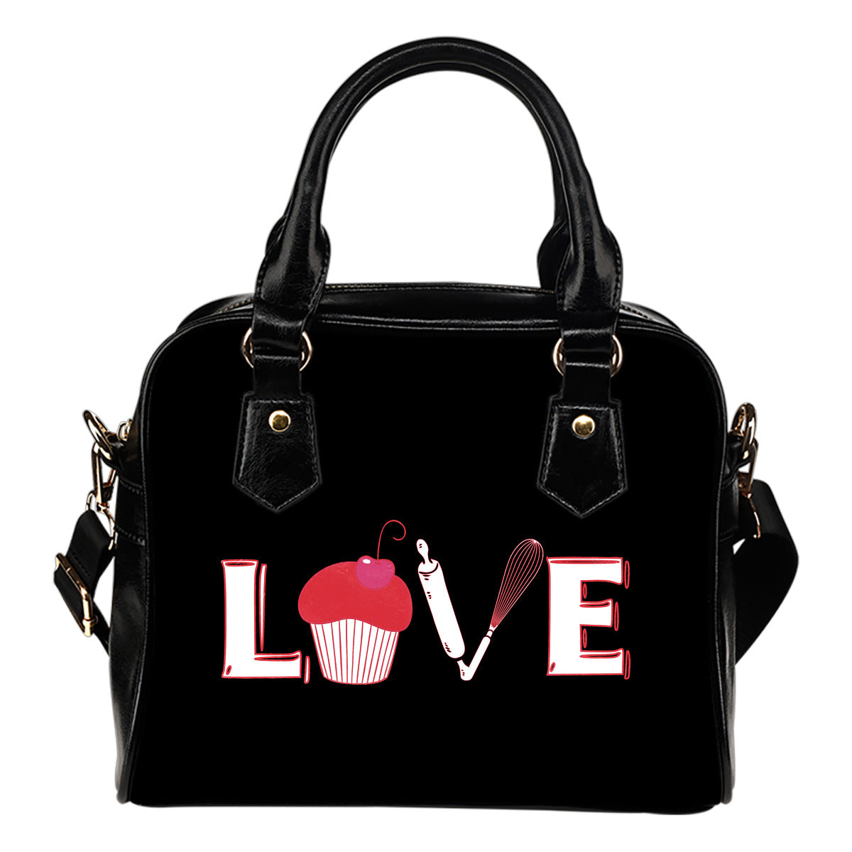 Love Baking Shoulder Handbag